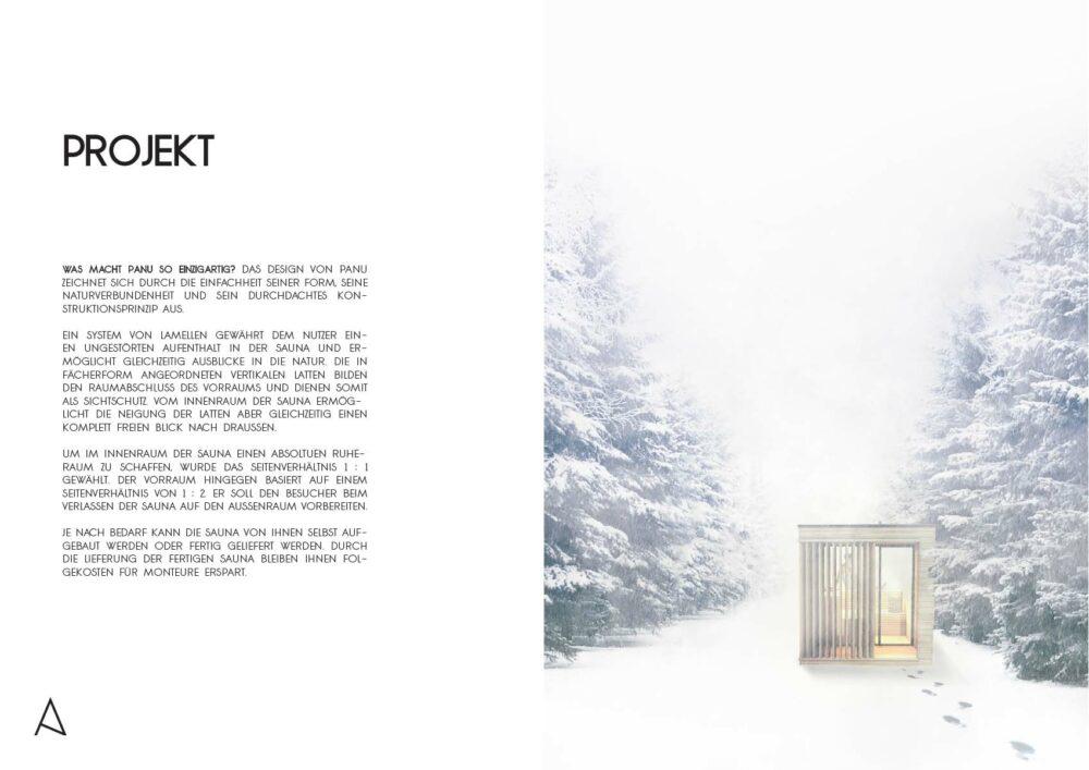 Outdoor Sauna Visualisierung Projektbeschreibung