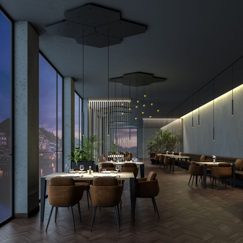 Interior Set Design Visualisierung Restaurant H.
