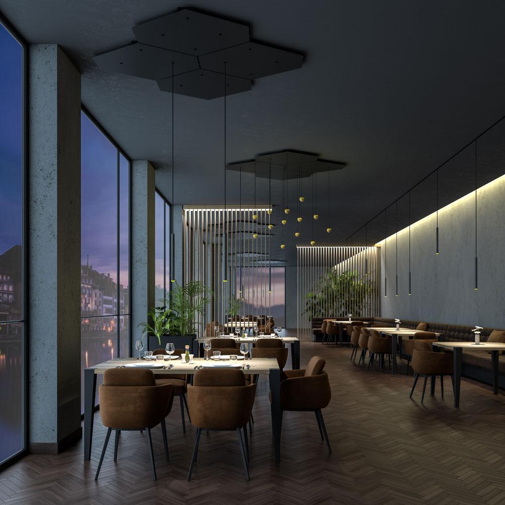 Interior Set Design Visualisierung Restaurant H.