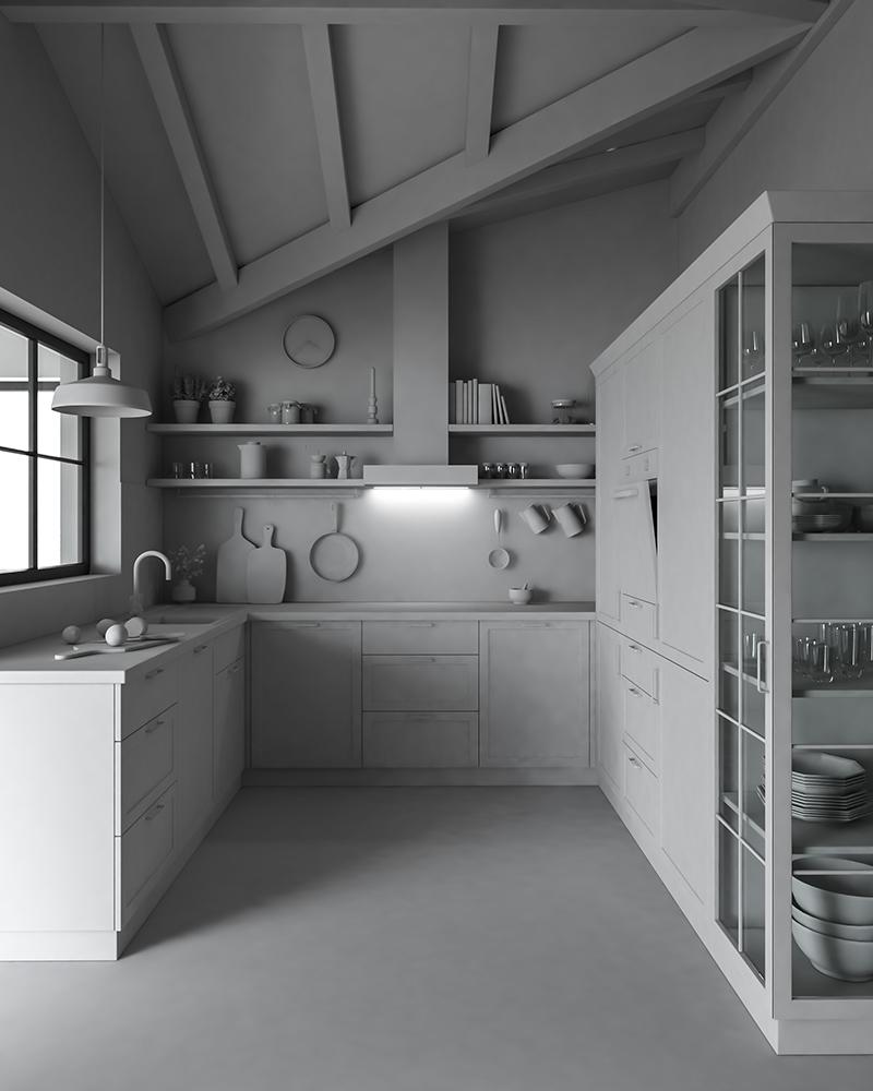 Landhausküche Entwurf