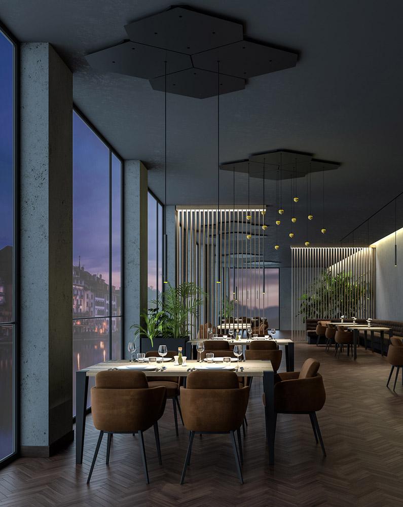 Innenraum Gestaltung Visualisierung Restaurant H.