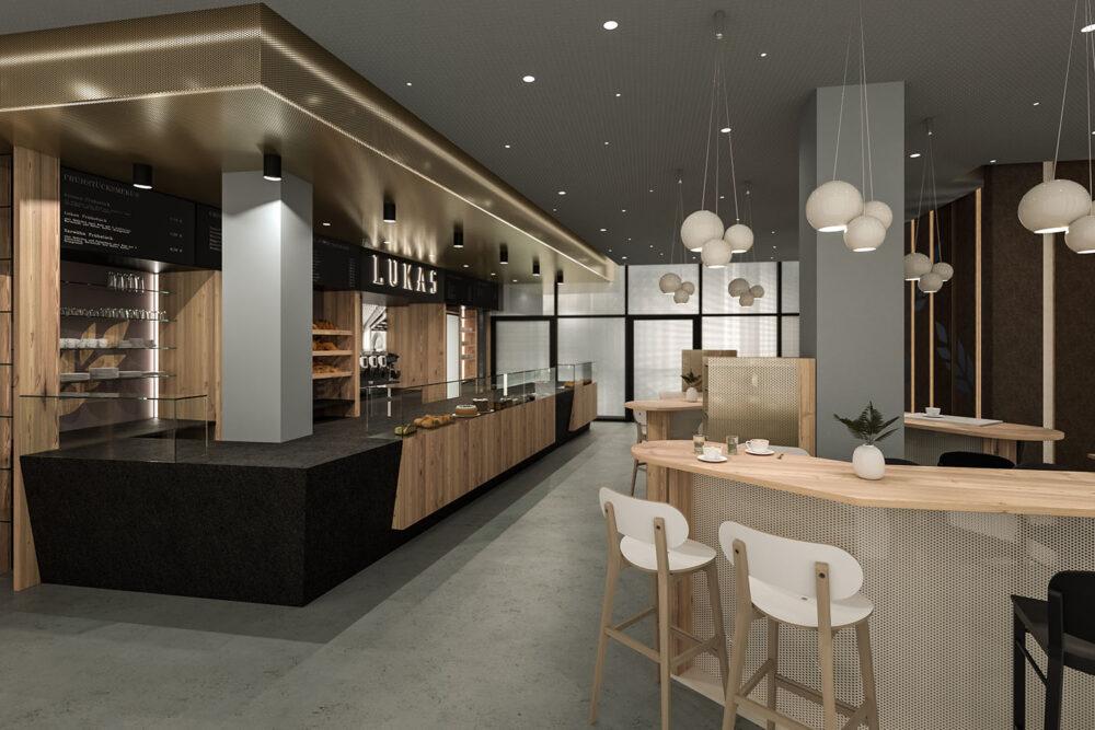 Innenraum Visualisierung Bäckerei