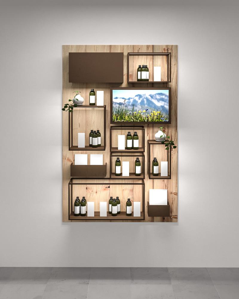Furniture Design Display Naturkosmetik