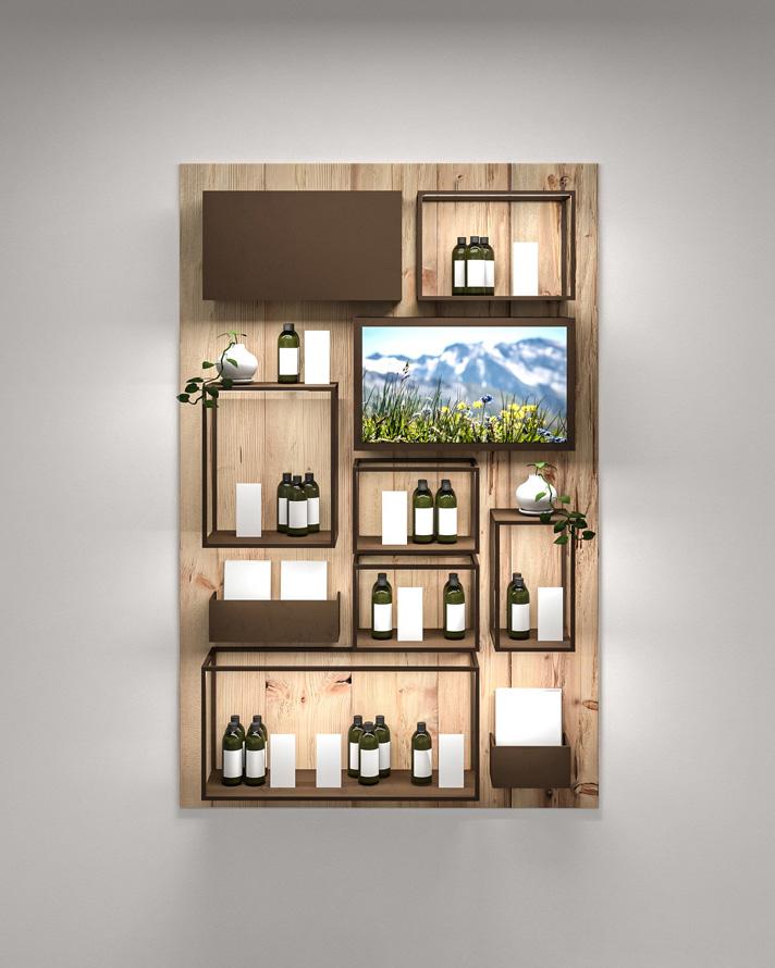 Furniture Design Verkaufsmöbel Naturkosmetik