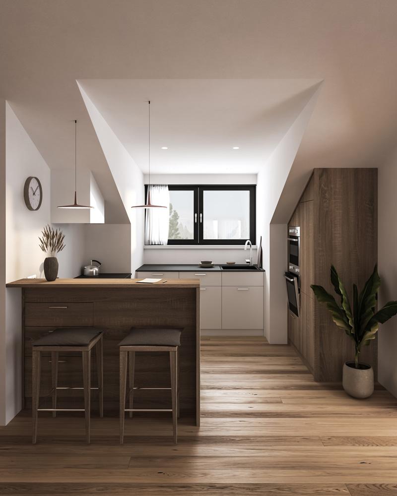 Küche A. Innenraum Gestaltung