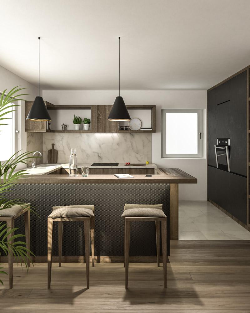 Küche C. Innenraum Gestaltung