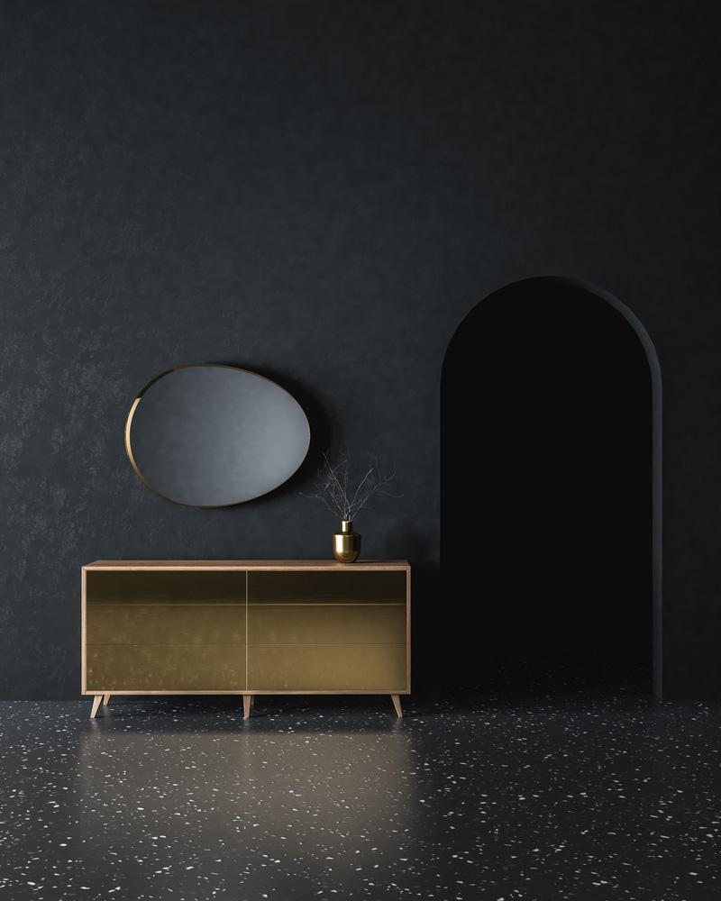Visualisierung Sideboard Möbeldesign