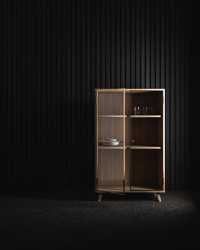 Visualisierung Vitrine Möbeldesign