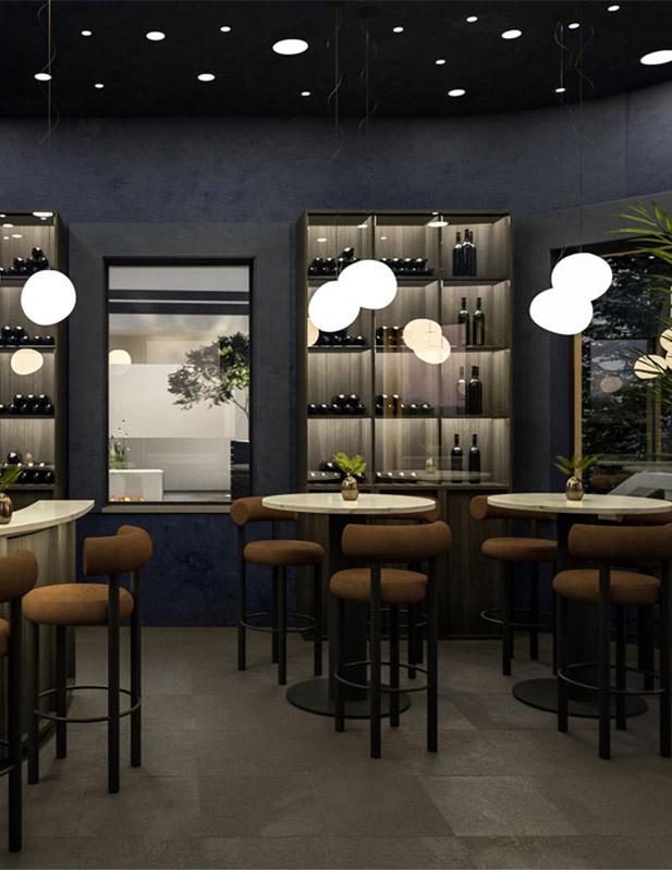 Innenraum Design Palais Campofranco Bar