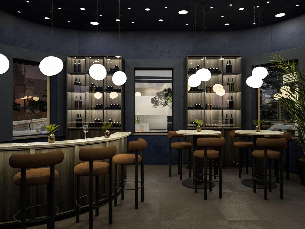 Innenraum Gestaltung Palais Campofranco Bar