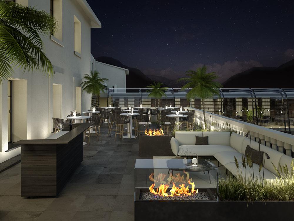 Außenraum Gestaltung Palais Campofranco Event Terrasse