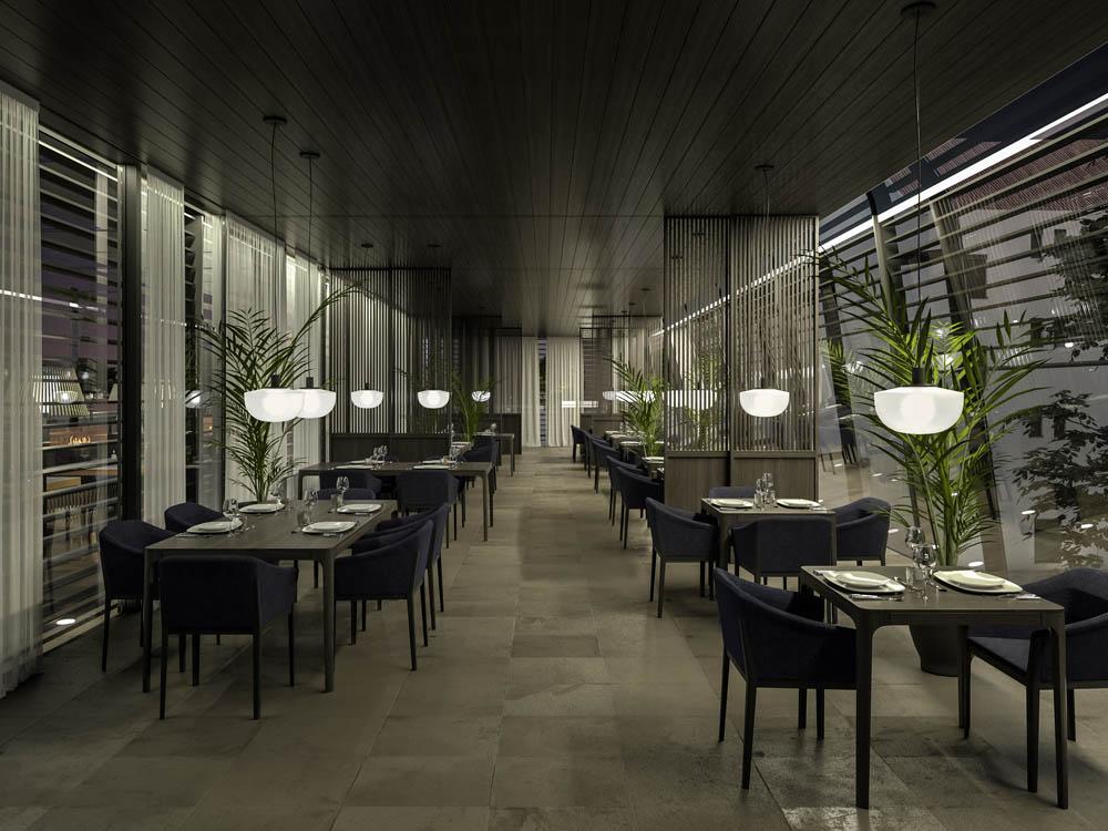 Interior Design Rendering Palais Campofranco Restaurant
