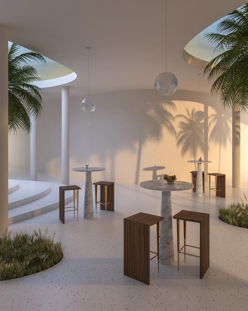 Set Design SATH Studio Stool Beam