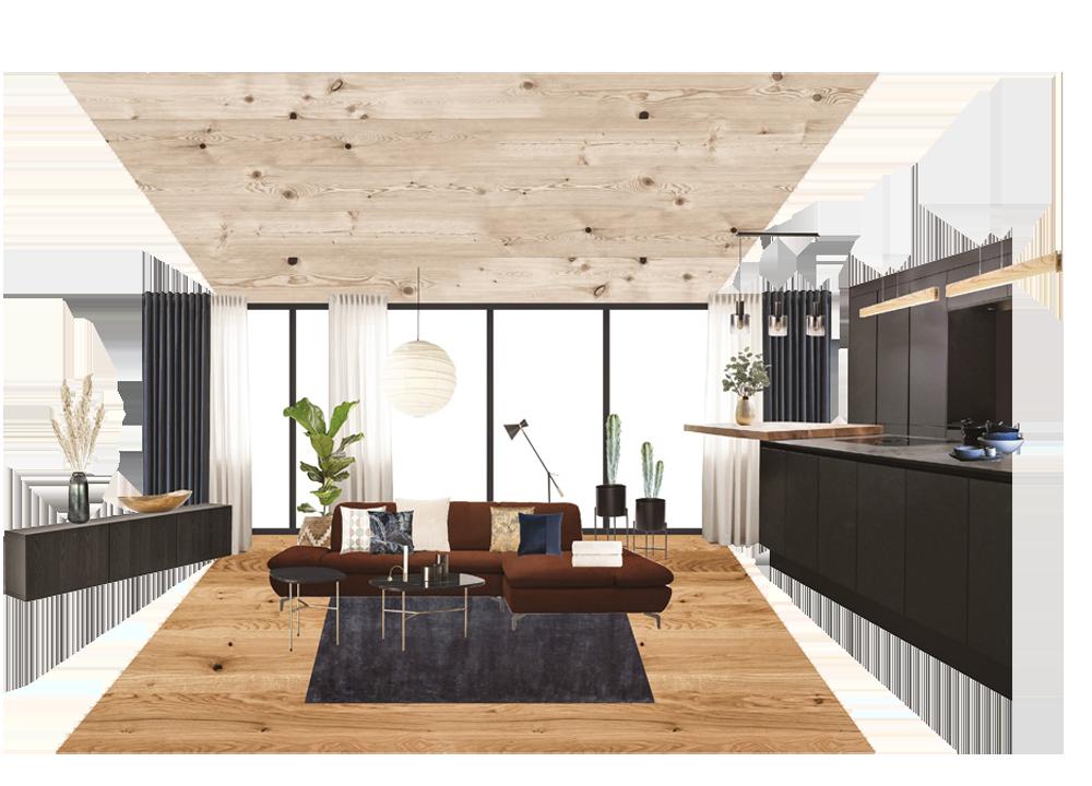 Innenraum Gestaltung Collage Wohnung
